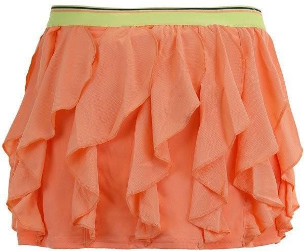 Теннисная юбка детская Adidas Frilly Skirt chalk coral