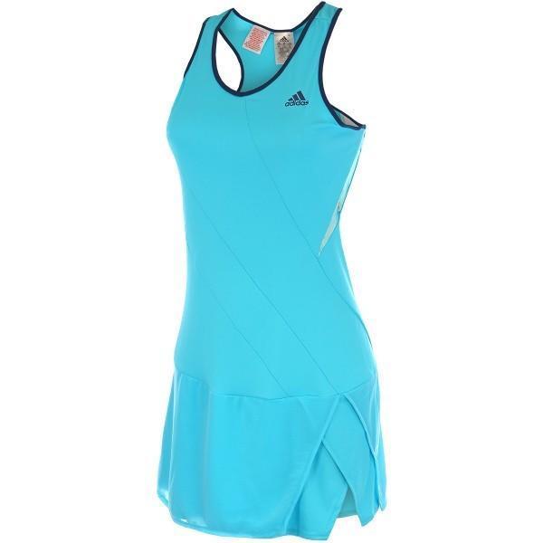 Теннисное платье детское Melbourne Line Dress Girls Turquoise/Dark Blue
