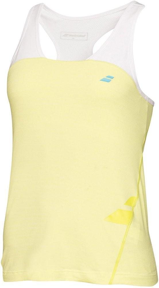 Теннисная майка детская Babolat Tank Raceback Performance Girl lime washed