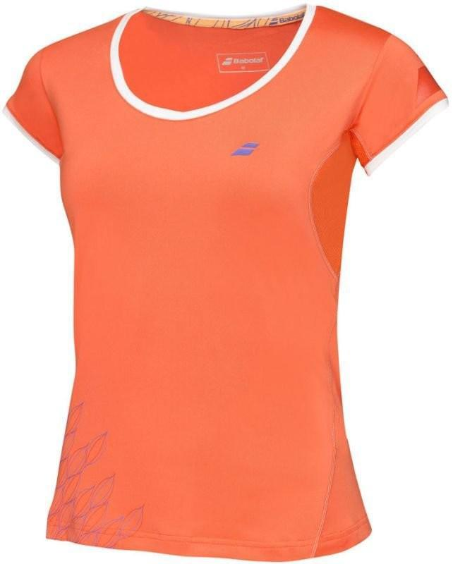 Теннисная футболка детская Babolat Cap Sleeves Performance Girl tomato