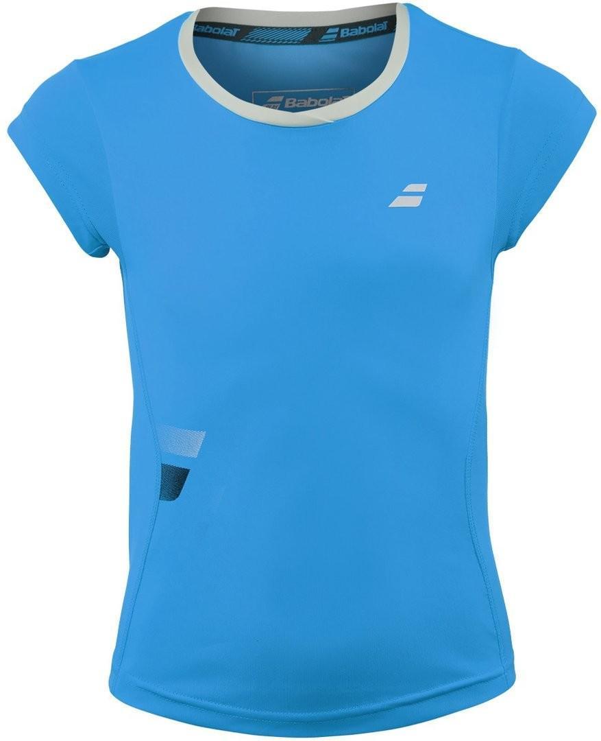 Теннисная футболка детская Babolat Core Flag Club Tee Girl drive blue