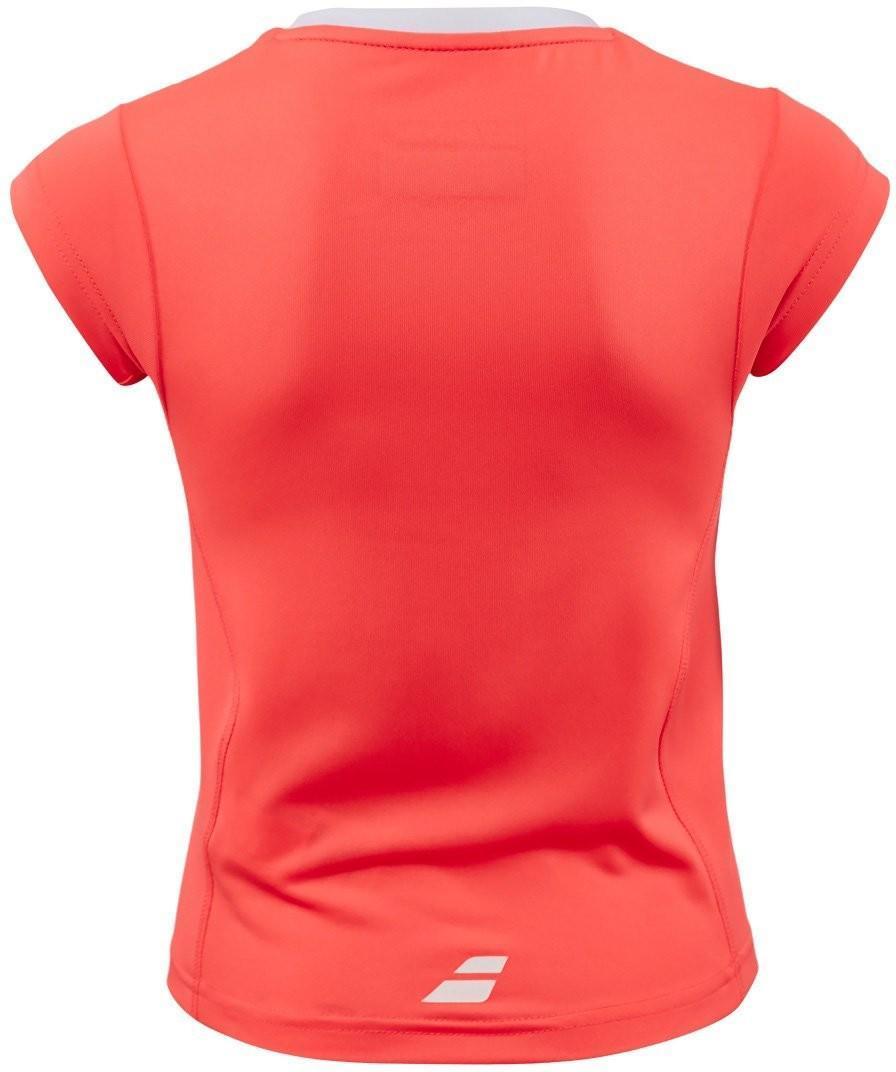 Теннисная футболка детская Babolat Core Flag Club Tee Girl fluo strike