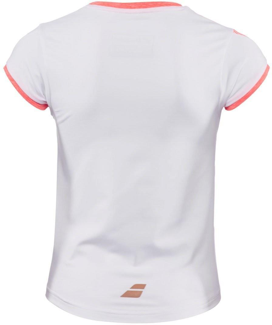 Теннисная футболка детская Babolat Performance Cap Sleeves Top Girl white