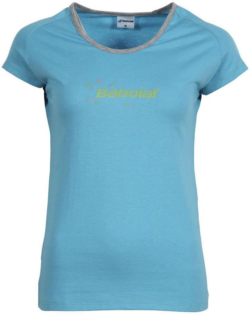 Теннисная футболка детская Babolat T-Shirt Core Girl turquoise
