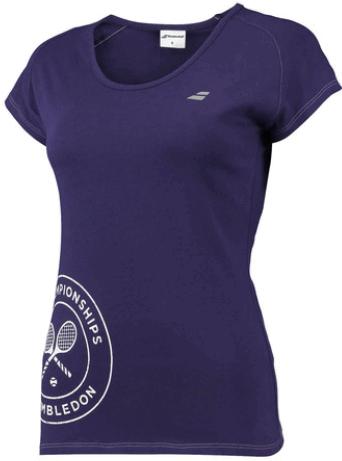 Теннисная футболка детская Babolat Wimbledon Core Flag Tee Girl purple