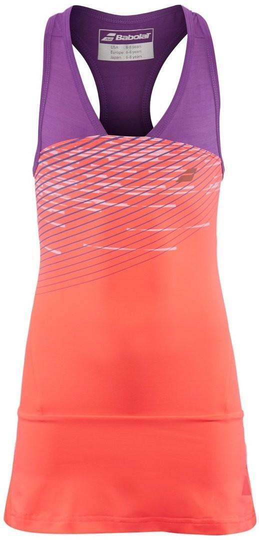 Теннисное платье детское Babolat Performance Racerback Dress Girl fluo strike