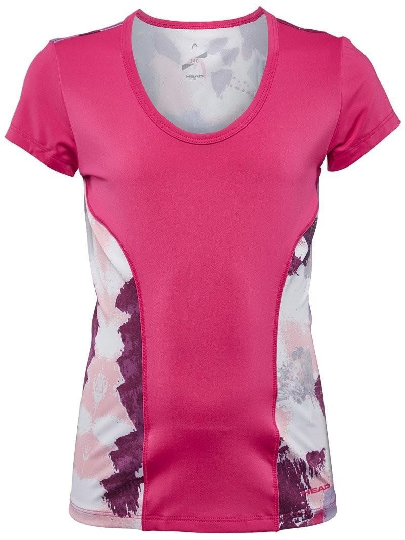 Теннисная футболка детская Head Vision Graphic Shirt G magenta