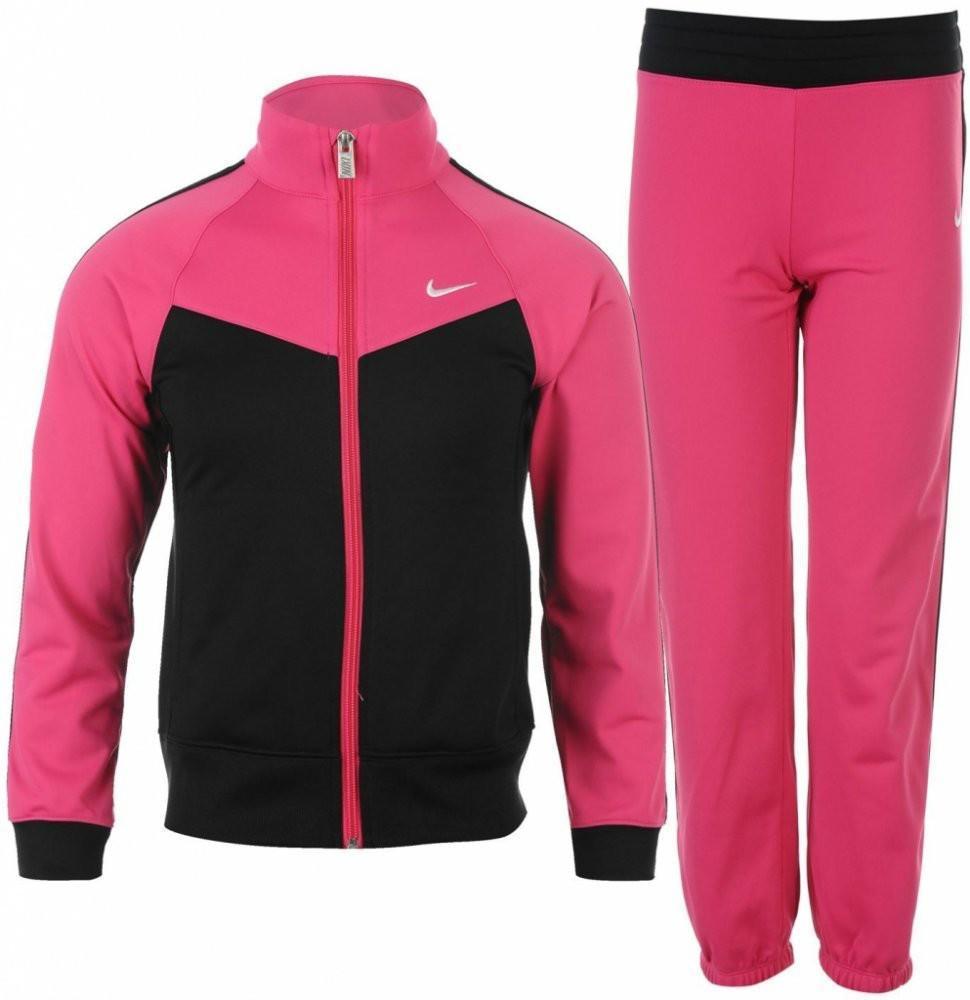Костюм детский Nike Girl's T40 Tricot vivid pink/black