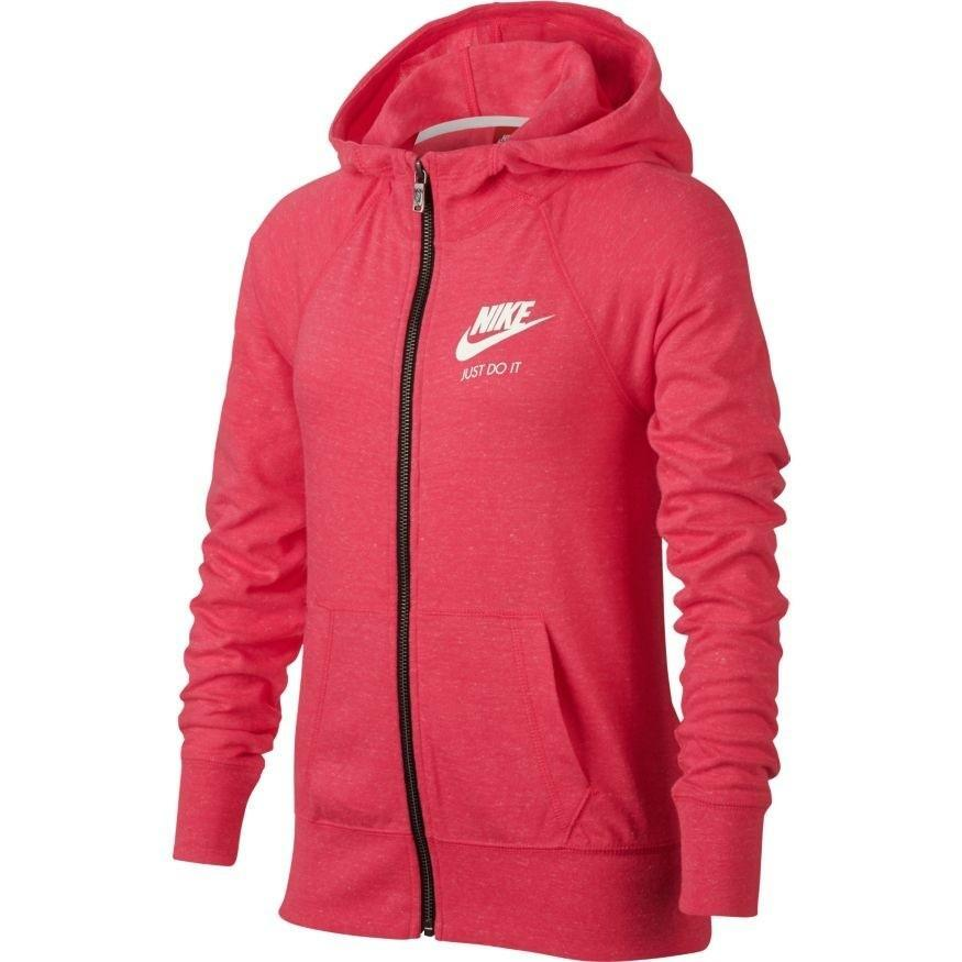Кофта детская Nike Girl's Gym Vintage Hooded Jacket Light Fusion Red w/Sail