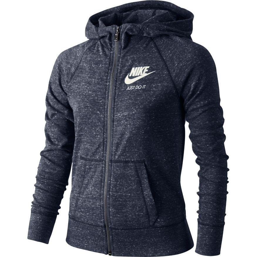 Кофта детская Nike Girl's Gym Vintage Hooded Jacket Navy
