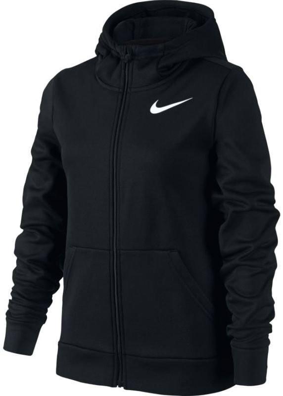 Кофта детская Nike Girls Therma Training Hoodie black/white