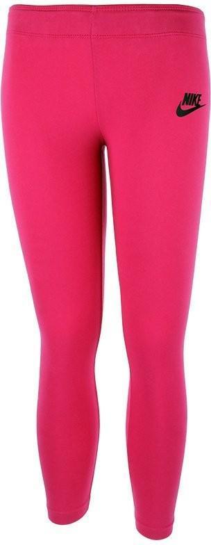 Леггинсы детские Nike Girls Tight Club Legging Logo active pink/black