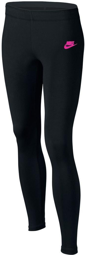 Леггинсы детские Nike Girls Tight Club Legging Logo black/active pink