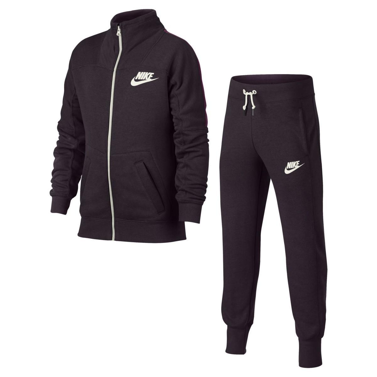 01c38f03 Спортивный костюм детский Nike Girl's NSW Track Suit Port Wine/Tea Berry &  Sail