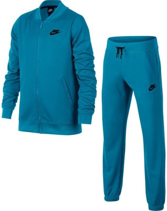 Спортивный костюм детский Nike Girl's NSW Track Suit Tricot lt blue lacquer/lt blue lacquer/black
