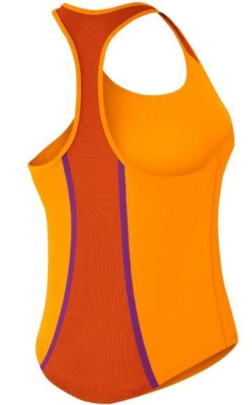 Теннисная майка детская Nike Flow Tank YTH Vivid Orange/Safety Orange & White