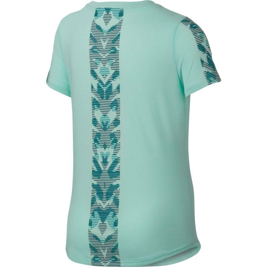Теннисная футболка детская Nike Girl's NSW TEE TRI SCP TIGRESS BLK Light Aqua
