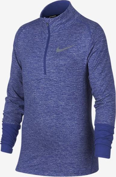 Теннисная футболка детская Nike Girl's Winter Element Half-Zip Longsleeve purple comet