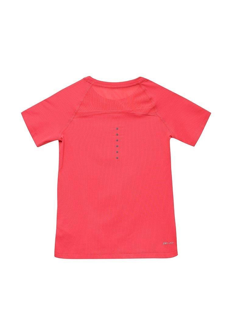 Теннисная футболка детская Nike Girls NK TOP SS YTH Action Red/Black/White
