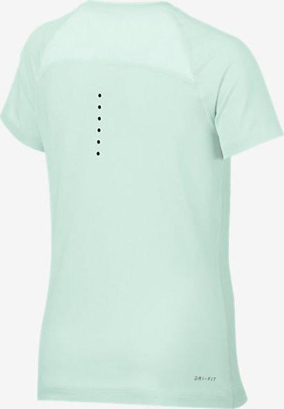 Теннисная футболка детская Nike Girls NK TOP SS YTH Igloo/Black