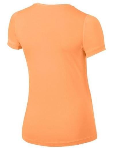 Теннисная футболка детская Nike Girls Pro Top Cream/Ember Glow
