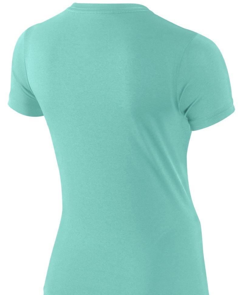 Теннисная футболка детская Nike Legend SS Top YTH Light Aqua/blue