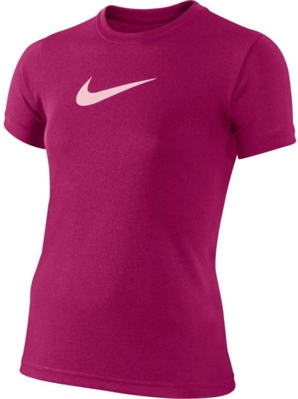 Теннисная футболка детская Nike Legend SS Top YTH sport fuchsia/prism pink