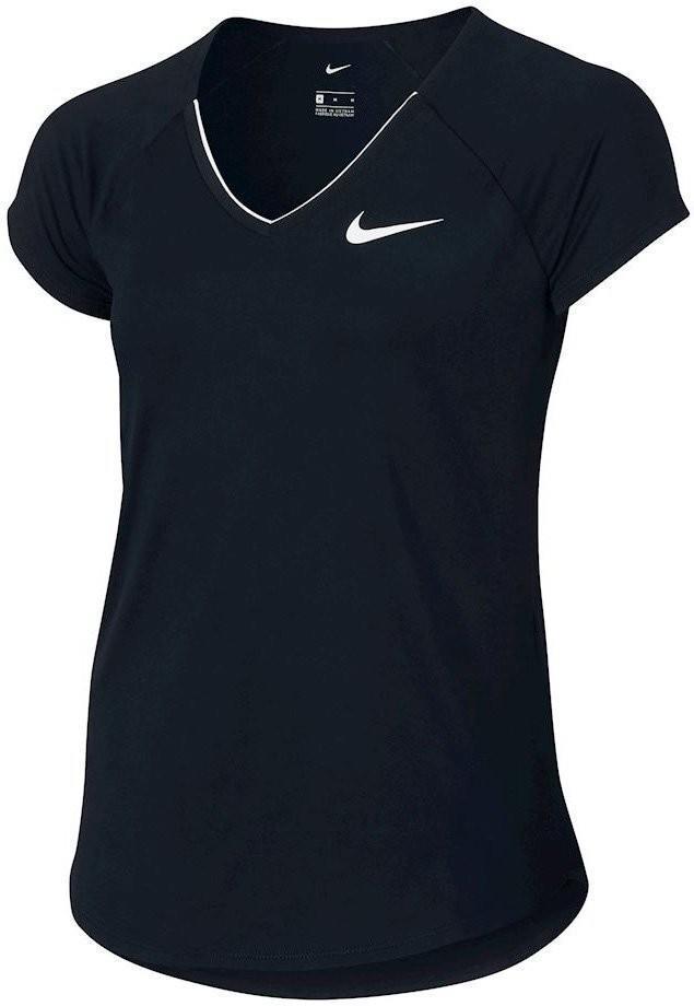 Теннисная футболка детская Nike Pure Top Girl's black/white