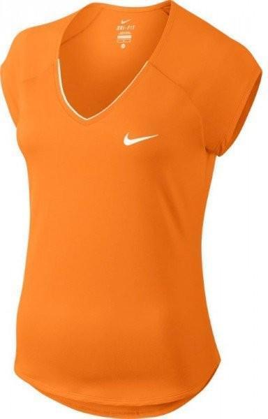 Теннисная футболка детская Nike Pure Top Girl's tart orange