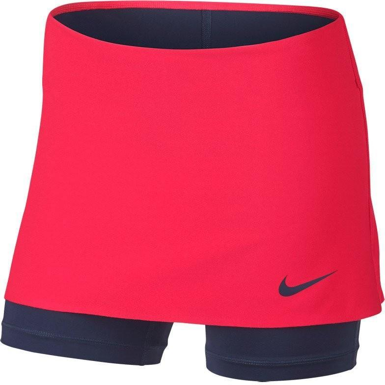 Теннисная юбка детская Nike Power Skirt Spin action red/midnight navy/midnight navy