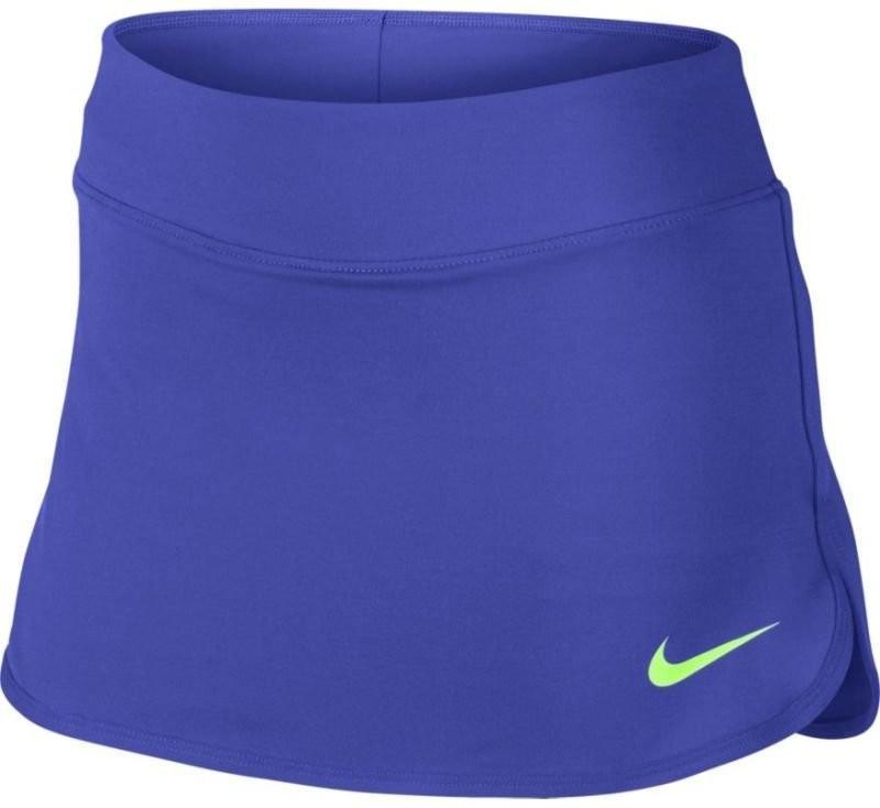 Теннисная юбка детская Nike Pure Girls Skirt paramount blue/ghost green