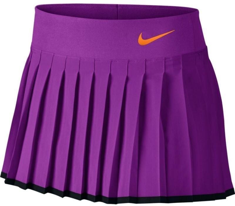 Теннисная юбка детская Nike Victory Skirt YTH vivid purple/black