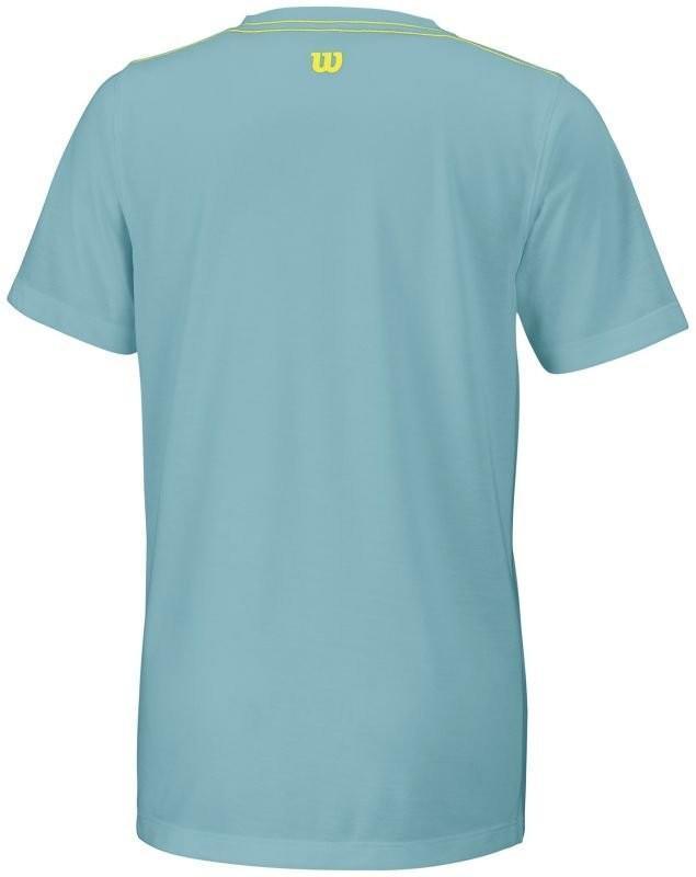 Теннисная футболка детская Wilson Tennis Tech Tee aqua