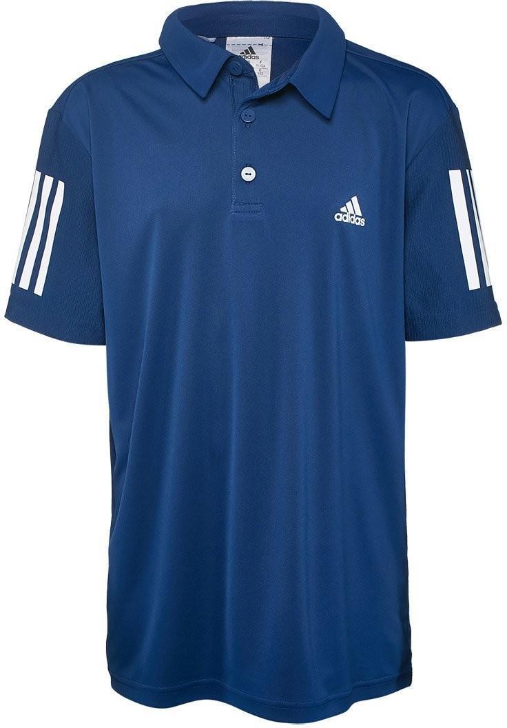 Теннисная футболка детская Adidas B Club Polo mystery blue/white поло