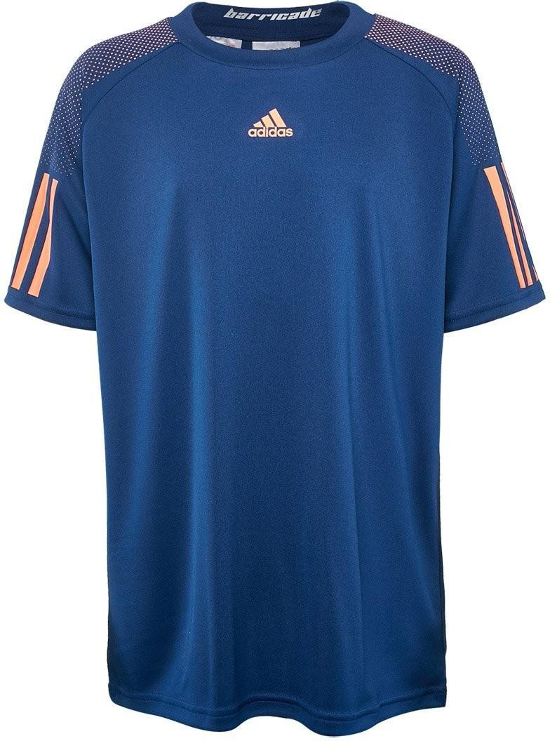 Теннисная футболка детская Adidas Barricade Tee mystery blue/glow orange