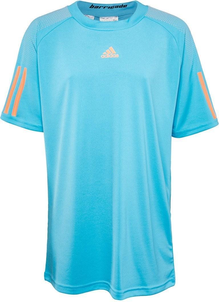 Теннисная футболка детская Adidas Barricade Tee samba blue/glow orange
