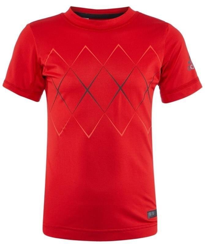 Теннисная футболка детская Adidas Barricade Tee scarlet