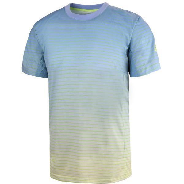 Теннисная футболка детская Adidas Boys Melbourne Tee semi frozen yellow/ash blue