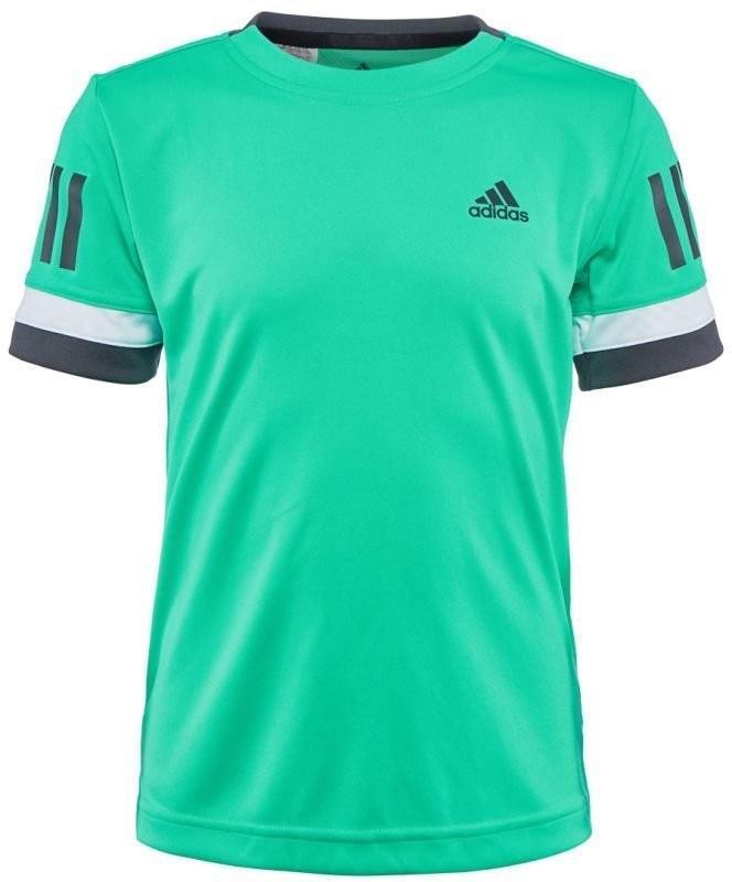 Теннисная футболка детская Adidas Club 3-Stripes Tee hi-res green