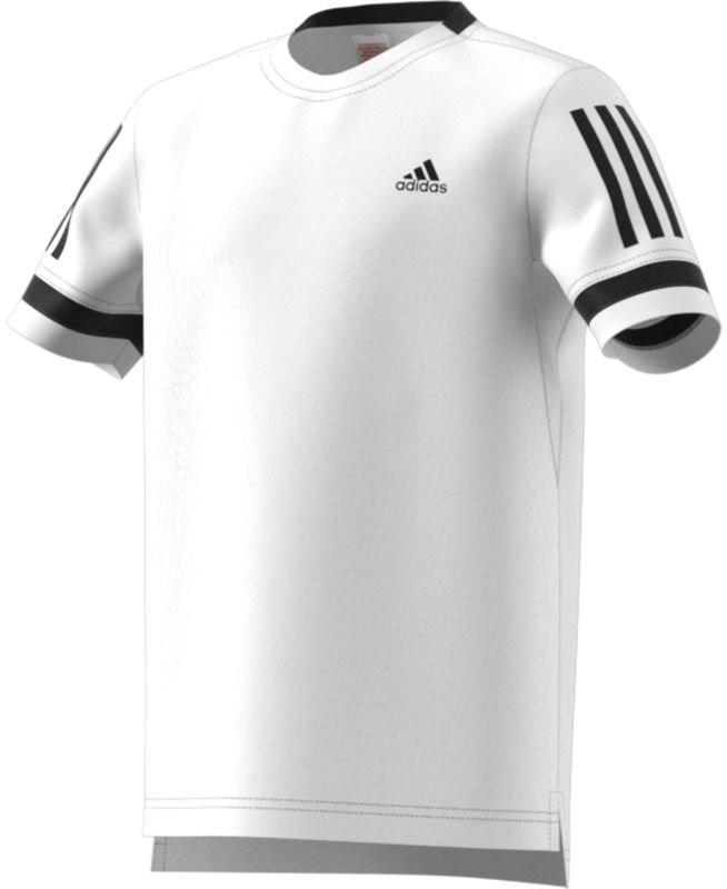 Теннисная футболка детская Adidas Club 3-Stripes Tee white/black