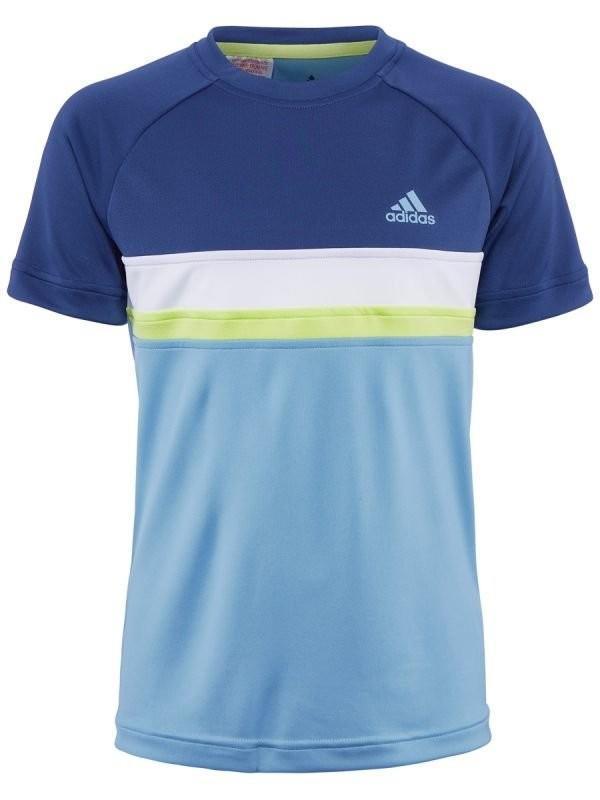 Теннисная футболка детская Adidas Club Color Block Crew ash blue