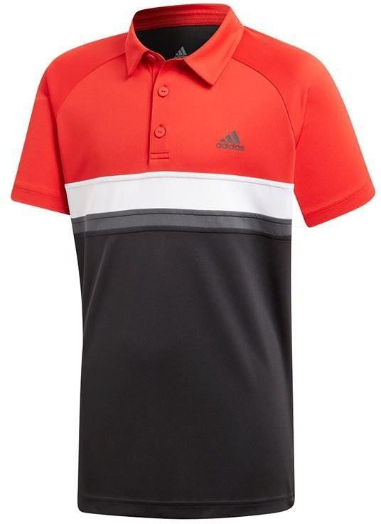 Теннисная футболка детская Adidas Club Color Block Polo black поло