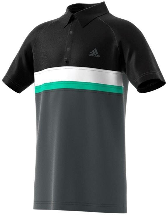 Теннисная футболка детская Adidas Club Color Block Polo dark grey heather/solid grey поло