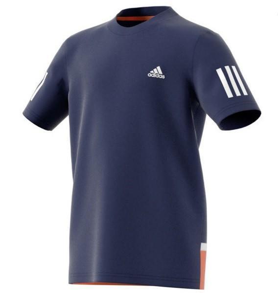 Теннисная футболка детская Adidas Club Tee mystic blue/white