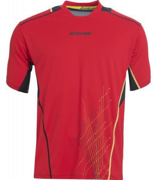 Детская теннисная футболка Babolat T-Shirt Boy Match Performance red