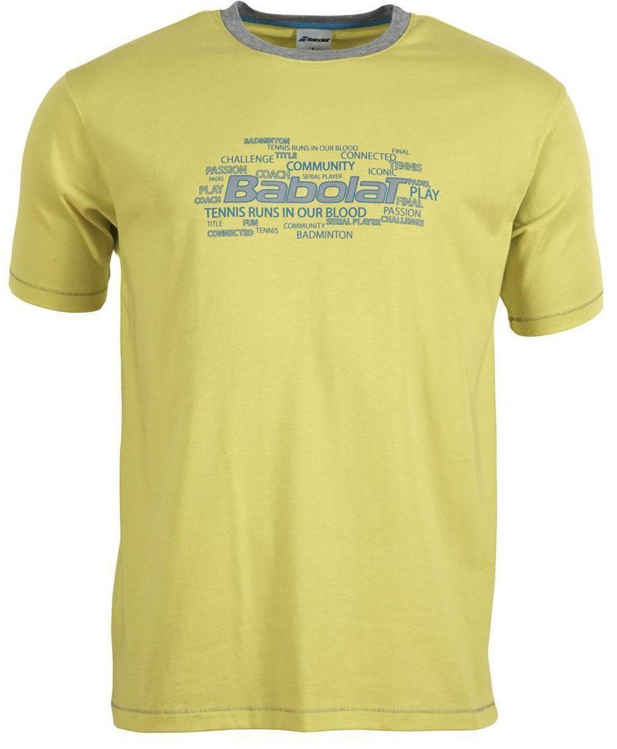 Детская теннисная футболка Babolat T-Shirt Training Basic Boy yellow