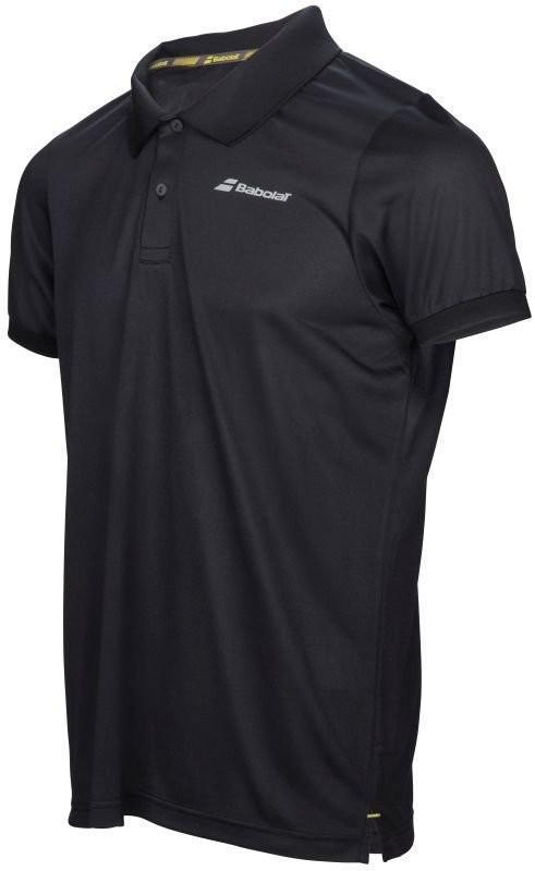 Теннисная футболка детская Babolat Core Club Polo Boy black поло