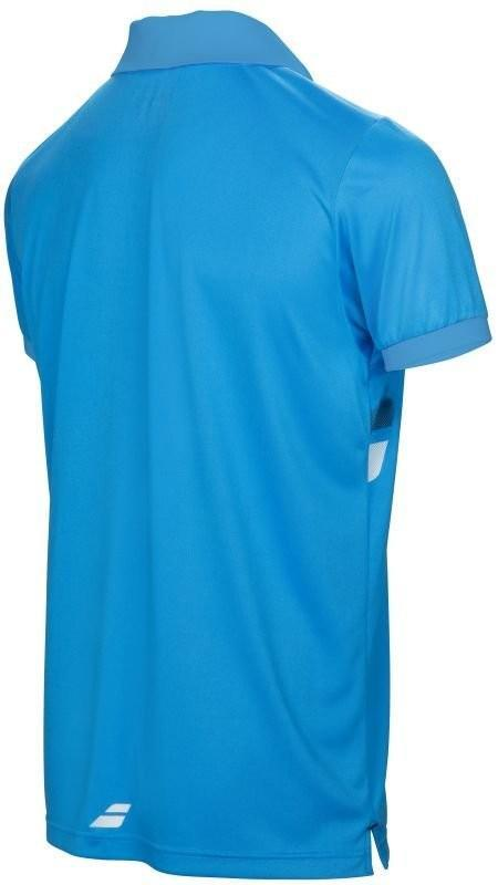 Теннисная футболка детская Babolat Core Club Polo Boy drive blue поло