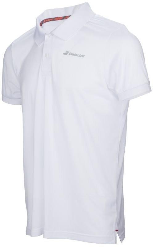 Теннисная футболка детская Babolat Core Club Polo Boy white поло