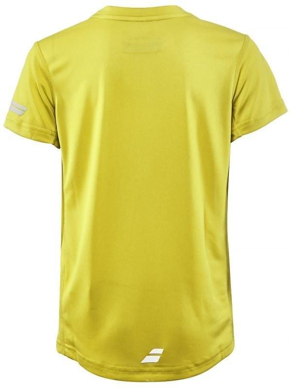 Теннисная футболка детская Babolat Core Flag Club Tee Boy aero yellow